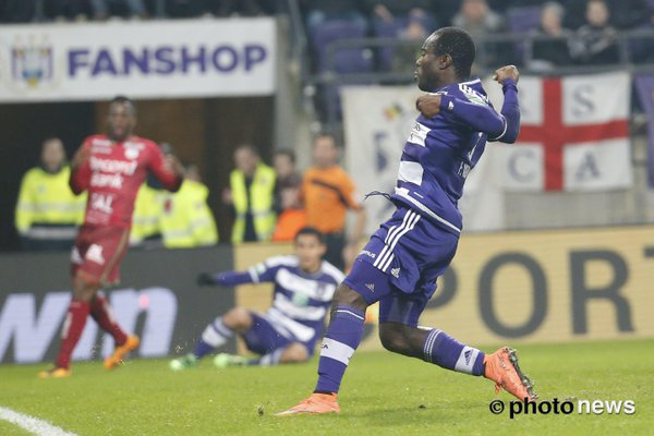 PHOTOS: Frank Acheampong celebrates after scoring in Anderlecht big win