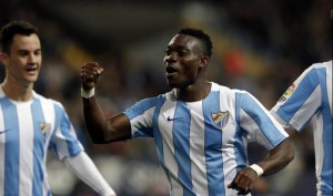 Malaga winger Christian Atsu a doubt for his side's weekend clash against Villarreal