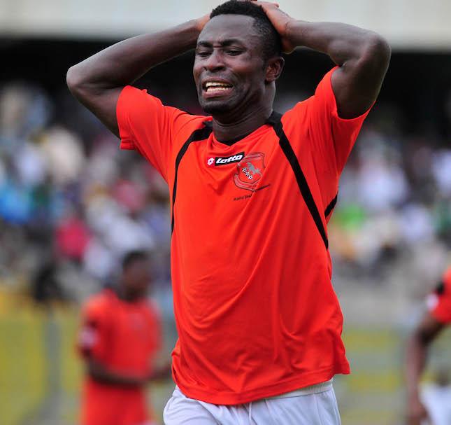 Bernard Ofori of New Edubiase . During the1st Capital Plus Premier league ©Christian Thompson/BackpagePix
