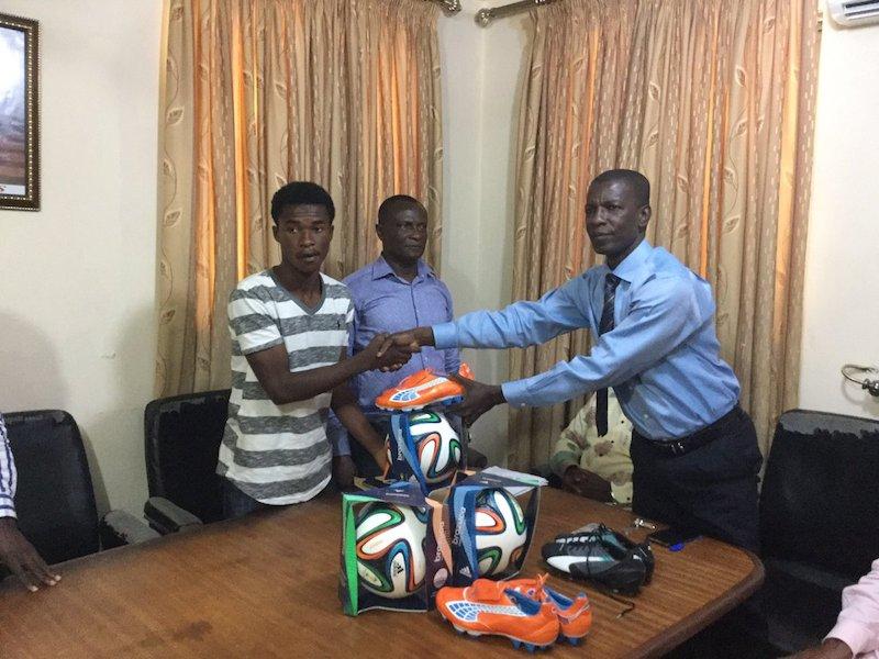 Ghana FA rewards Premier League season's first goalscorer Charles Boateng of WAFA SC