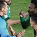 VIDEO: Panathinaikos star Michael Essien 'hits' referee in hot argument