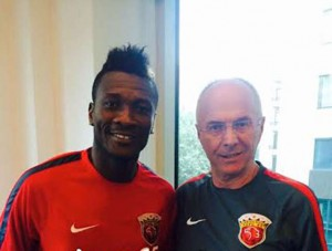Asamoah Gyan named in Shanghai SIPG's Asian Champions League squad against Muangthong United today