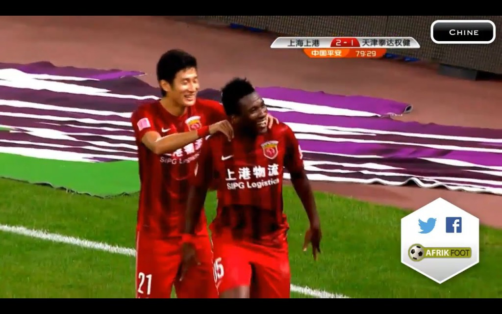 VIDEO: Shanghai SIPG ace Asamoah Gyan starts to speak Chinese