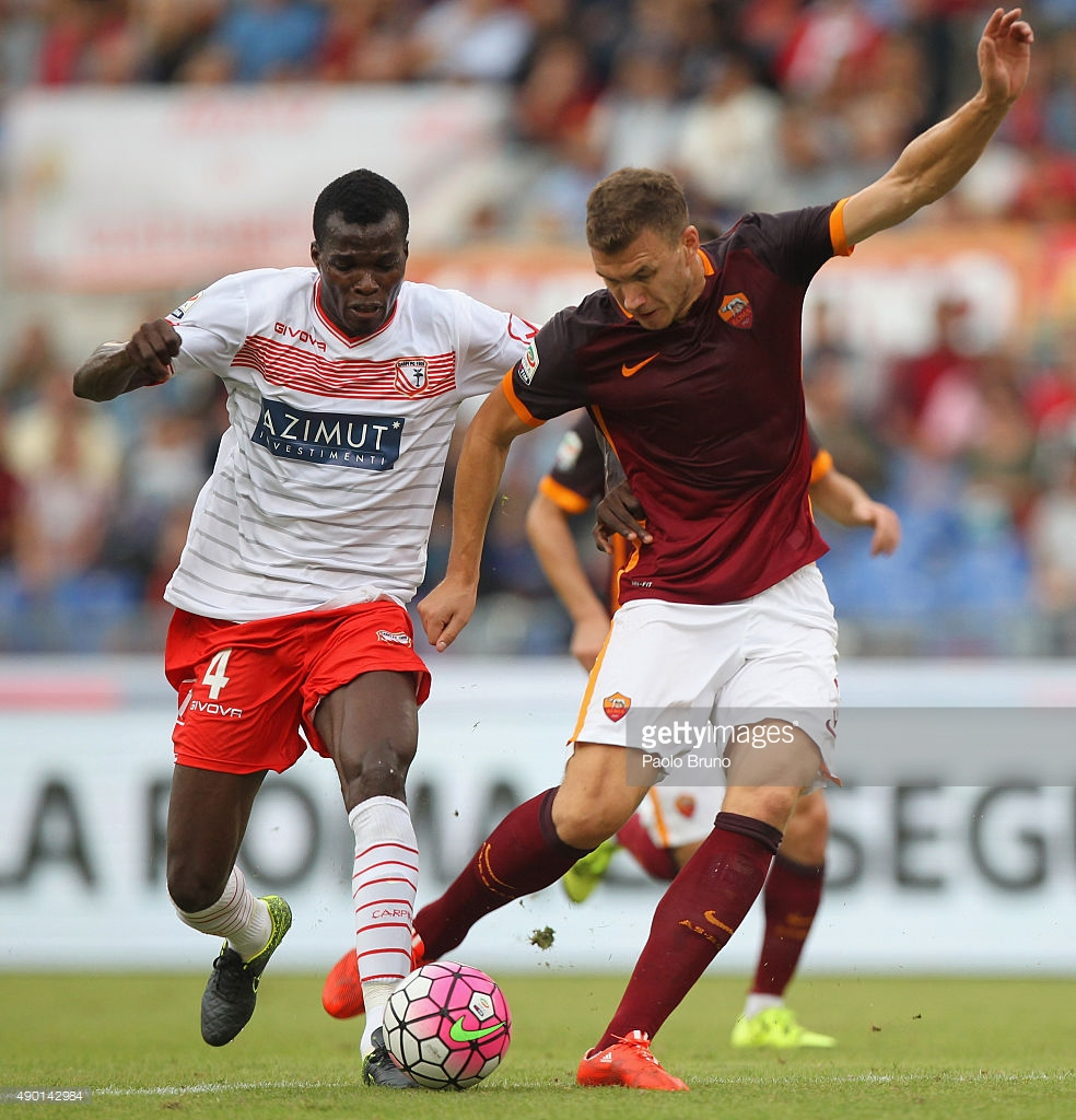 Isaac Cofie's Carpi facing 'real' Serie A relegation dangers after slipping against Roma