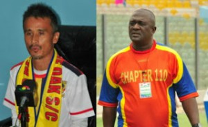 Hearts coach Kenichi Yatsuhashi clashes with team manager Sabahn Quaye for the third time - report