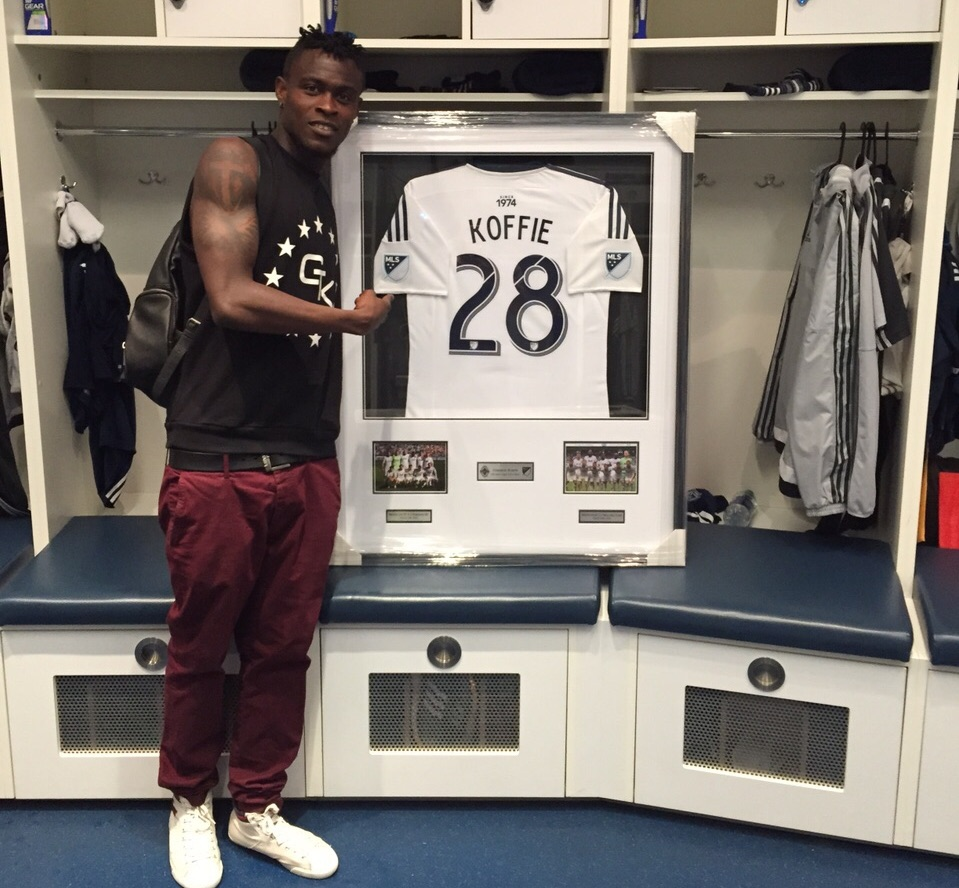 Whitecaps pay tribute to 'all-time capped player in MLS' Gershon Koffie