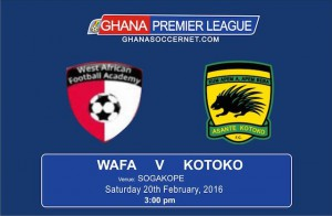 Re-live minute-by-minute updates of WAFA 2-0 Asante Kotoko