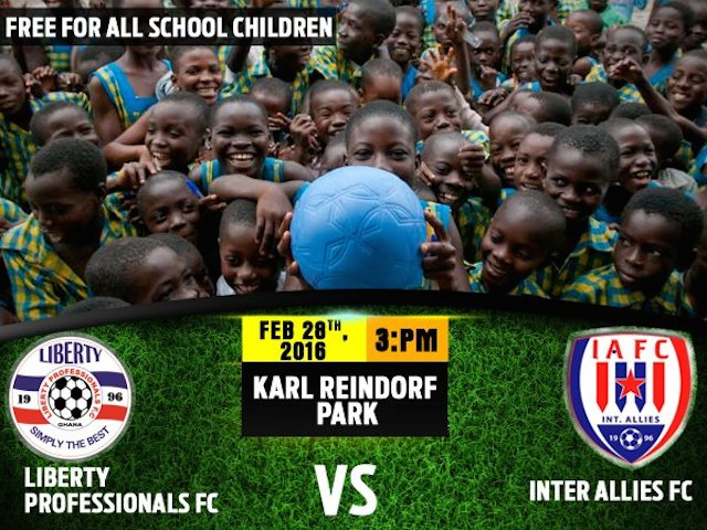 Liberty announce free entry for Dansoman basic school pupils in home opener