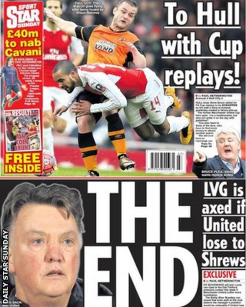 Today's newspaper gossip: Van Gaal facing United sack; Barcelona plotting to sign Mahrez
