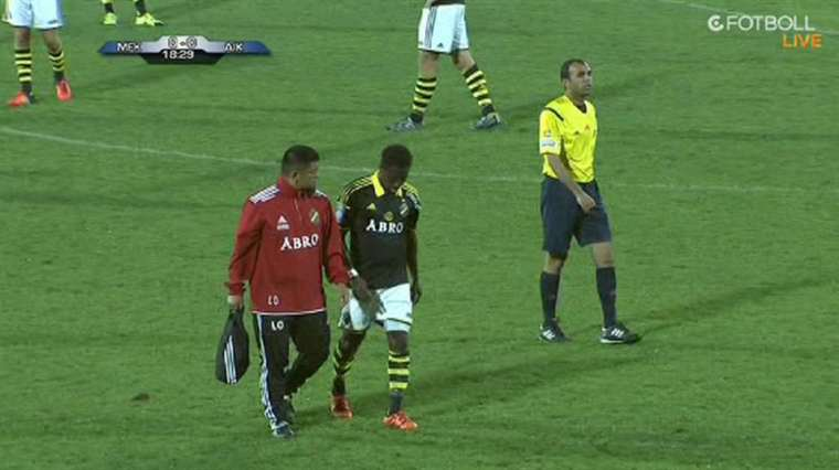 VIDEO: Watch how AIK Stockholm star Ebenezer Ofori suffered foot injury
