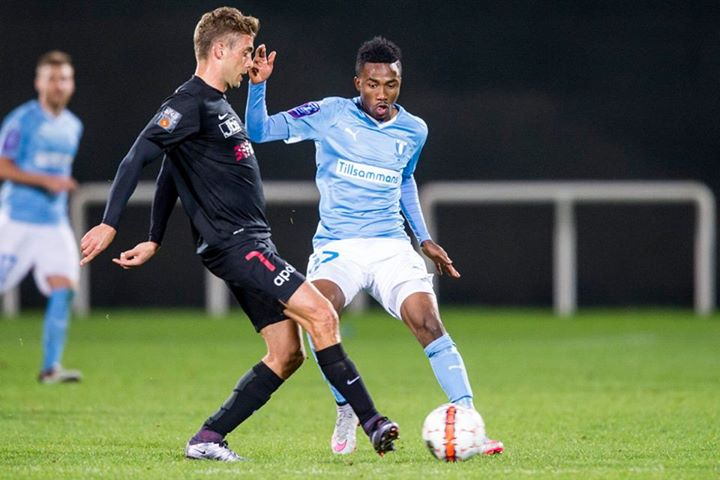 Ghana youth winger Samuel Tetteh makes Malmo FF trial debut