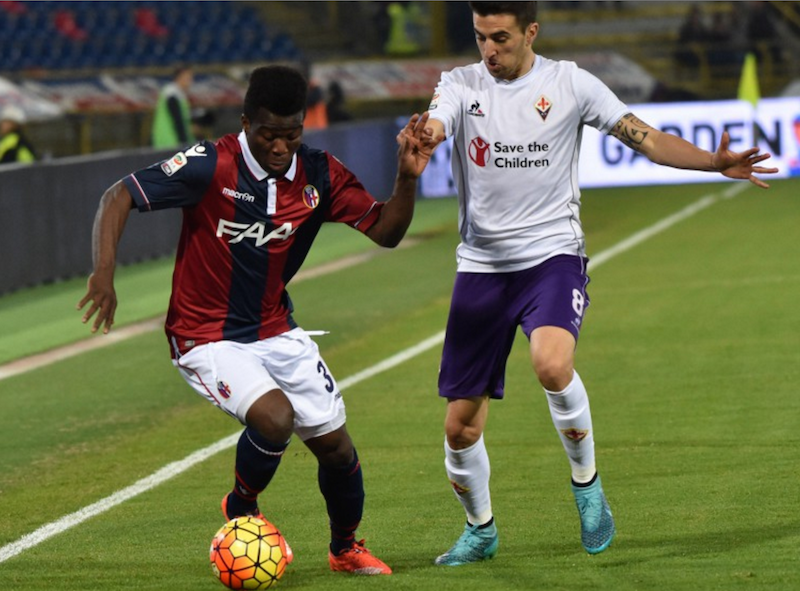 VIDEO: Godfred Donsah provides 'super' assist as Bologna draw with 10-man Fiorentina
