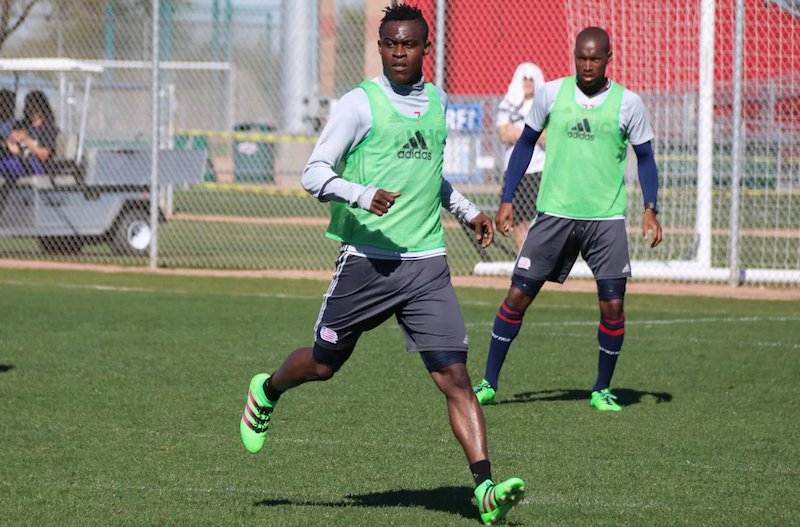 VIDEO: Gershon Koffie lands in New England Revolution for pre-season training