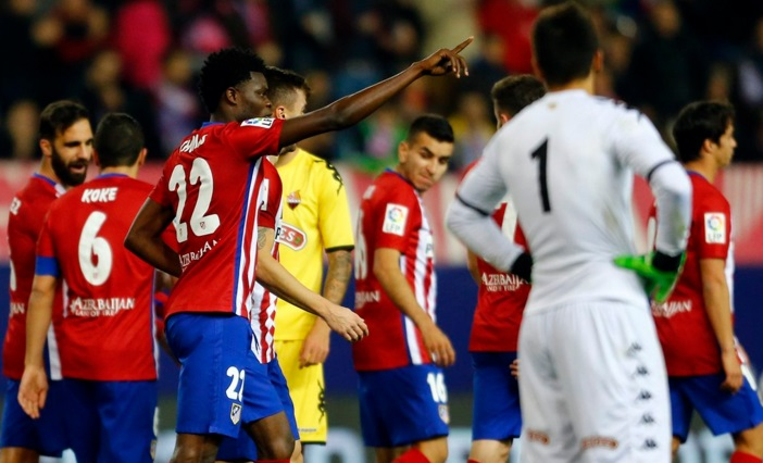 Ghana midfielder Thomas Partey makes full Spain top-flight debut in Atletico Madrid win