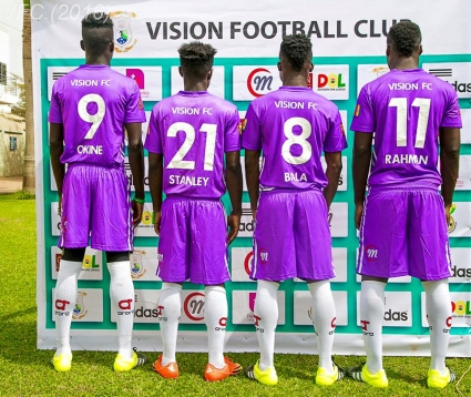 PHOTOS: Newly promoted division one club vision FC unveil new players