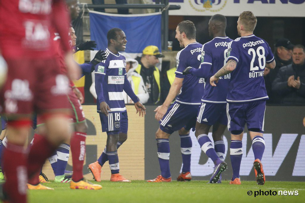 Ghanaian winger Frank Acheampong scores again for Anderlecht in 3-0 thrashing of Zulte Waregem