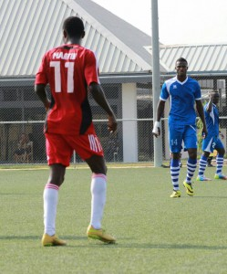 WAFA Forward Martin Antwi eye Asante Kotoko scalp at Sogakope