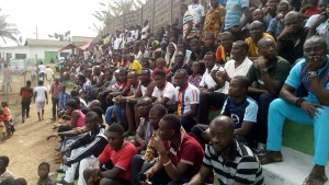 PHOTOS: Fans trooped in at the Dawu Park to watch Dreams FC vs Accra Hearts of Oak