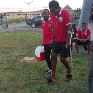 Felix Annan felt he had broken his leg in collision with Charles Boateng
