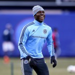 VIDEO: New York City FC striker Kwadwo Poku practices free-kicks in training