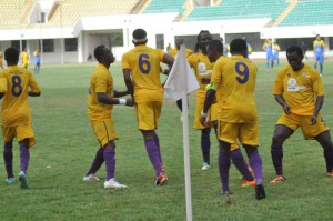 Medeama arrive in Accra for Super Cup clash against Ashantigold on Sunday