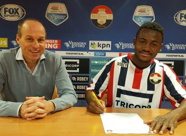 Ghanaian teenager Asumah Abubakar signs for Dutch Eredivise Willem II Tilburg