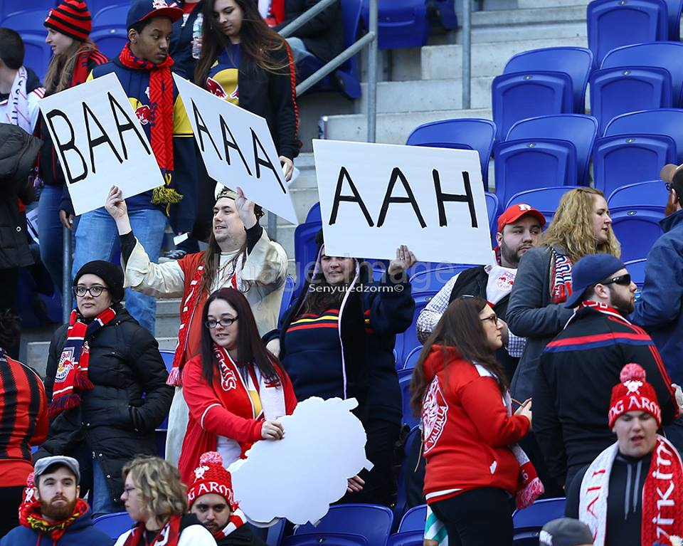 Some fans with Baah's name