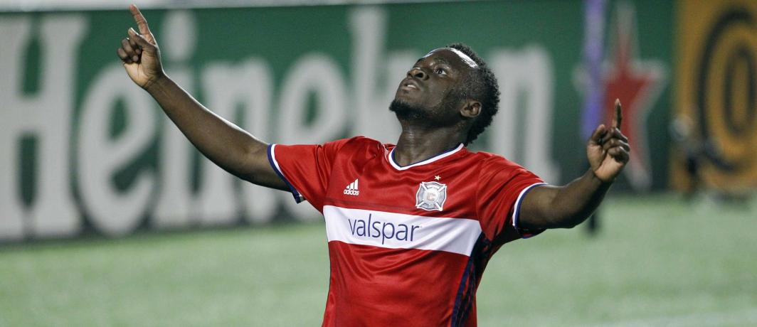 David Accam scored for Chicago Fire in the MLS on Saturday