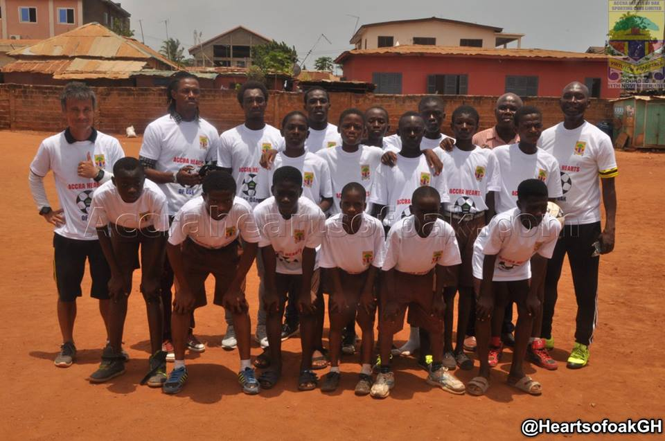 PICTURES: Ghanaians Hearts of Oak launch Schools Football Clinic in Accra