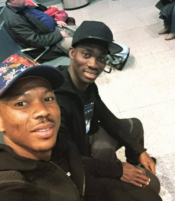 Photo: Christian Atsu on his way to Ghana for Mozambique clash