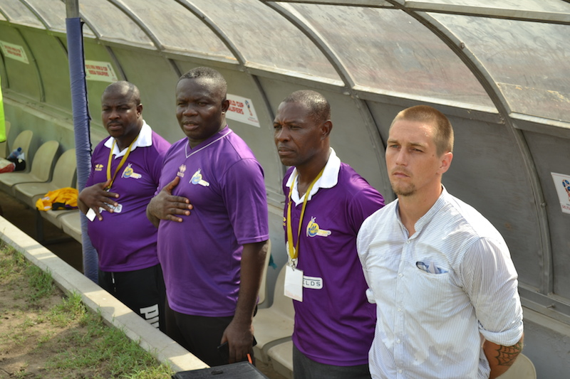 Tom Strand facing the SACK as Medeama coach for dereliction of duty during Kotoko draw