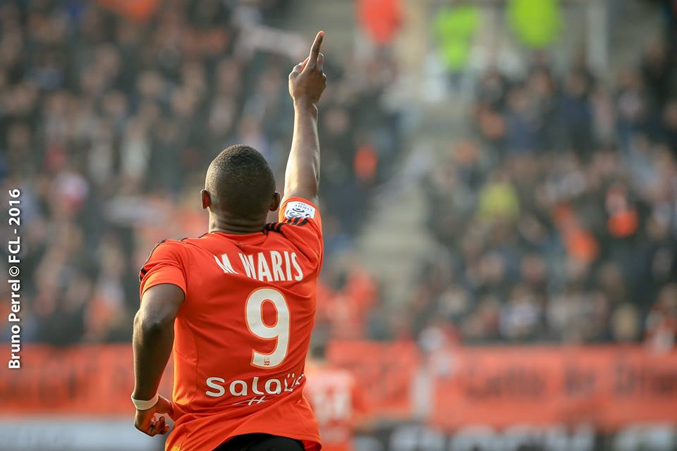 Majeed Waris scored for Lorient against Angers