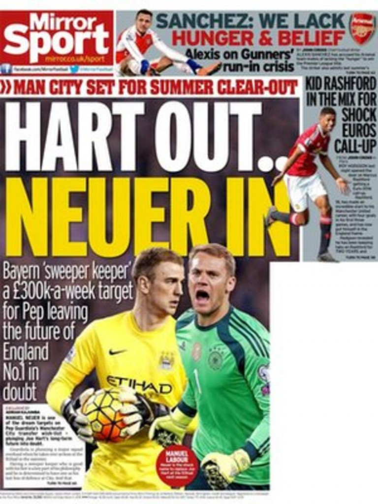Today's newspaper gossip: Hart's future at City in doubt, Chelsea scouts to  watch Pogba