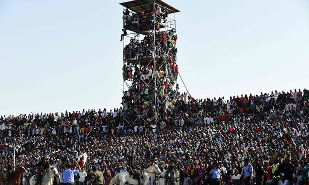 Disaster avoided as 40,000 cram into 16,000 stadium for Nigeria v Egypt AFCON qualifier