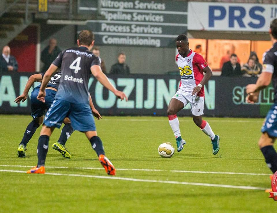 Ghana U23 attacker Raymond Gyasi nets brace for Emmen in Holland
