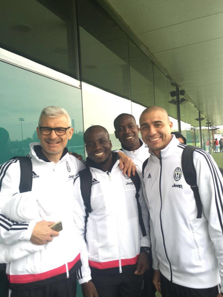 PHOTOS: Ex-Ghana skipper Stephen Appiah with former Juventus team mates ahead of charity game in China