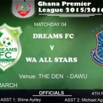 Re-live Ghana Premier League play-by-play: Dreams FC 1-1 Wa All Stars