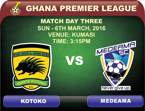Re-live the Ghana Premier League LIVE play-by-play as Asante Kotoko drew 2-2 with Medeama SC and updates of other matches from all league centers