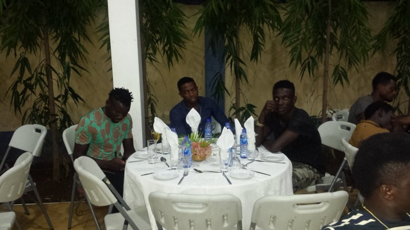 PICTURES: Hearts of Oak board chairman Togbe Afede XIV hosts team at his residence in Accra