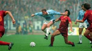 VIDEO: Gascoigne's marvellous Lazio leveller against Roma in 1992
