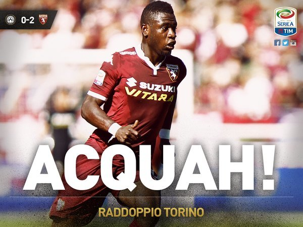 Afriyie Acquah on target as Torino frustrate Udinese's survival hopes