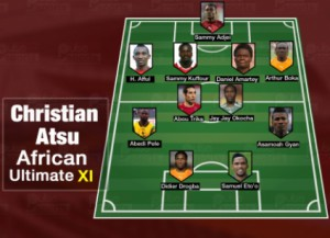 Ghana winger Christian Atsu names six compatriots in All-time African X1