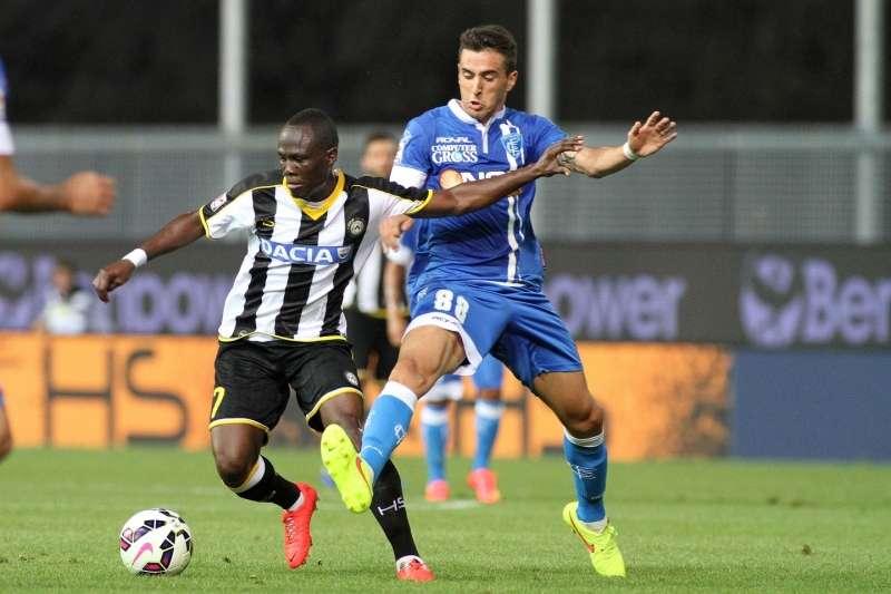 Badu won a penalty for Udinese
