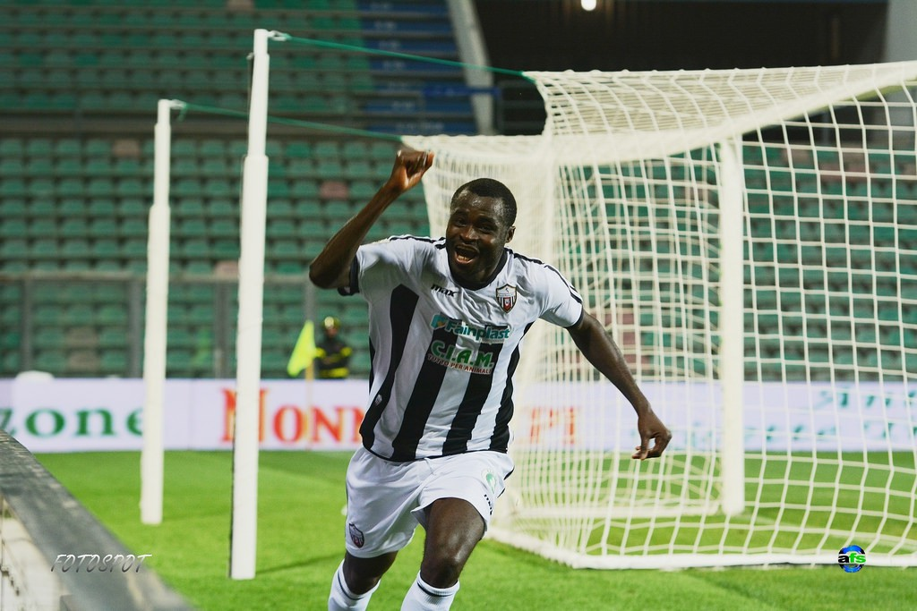 Former Ghana youth defender Bright Addae marks his 100th cap for Italian side Ascoli