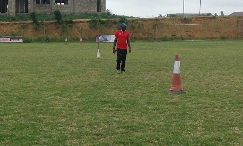 David Duncan at Asante Kotoko training ground.
