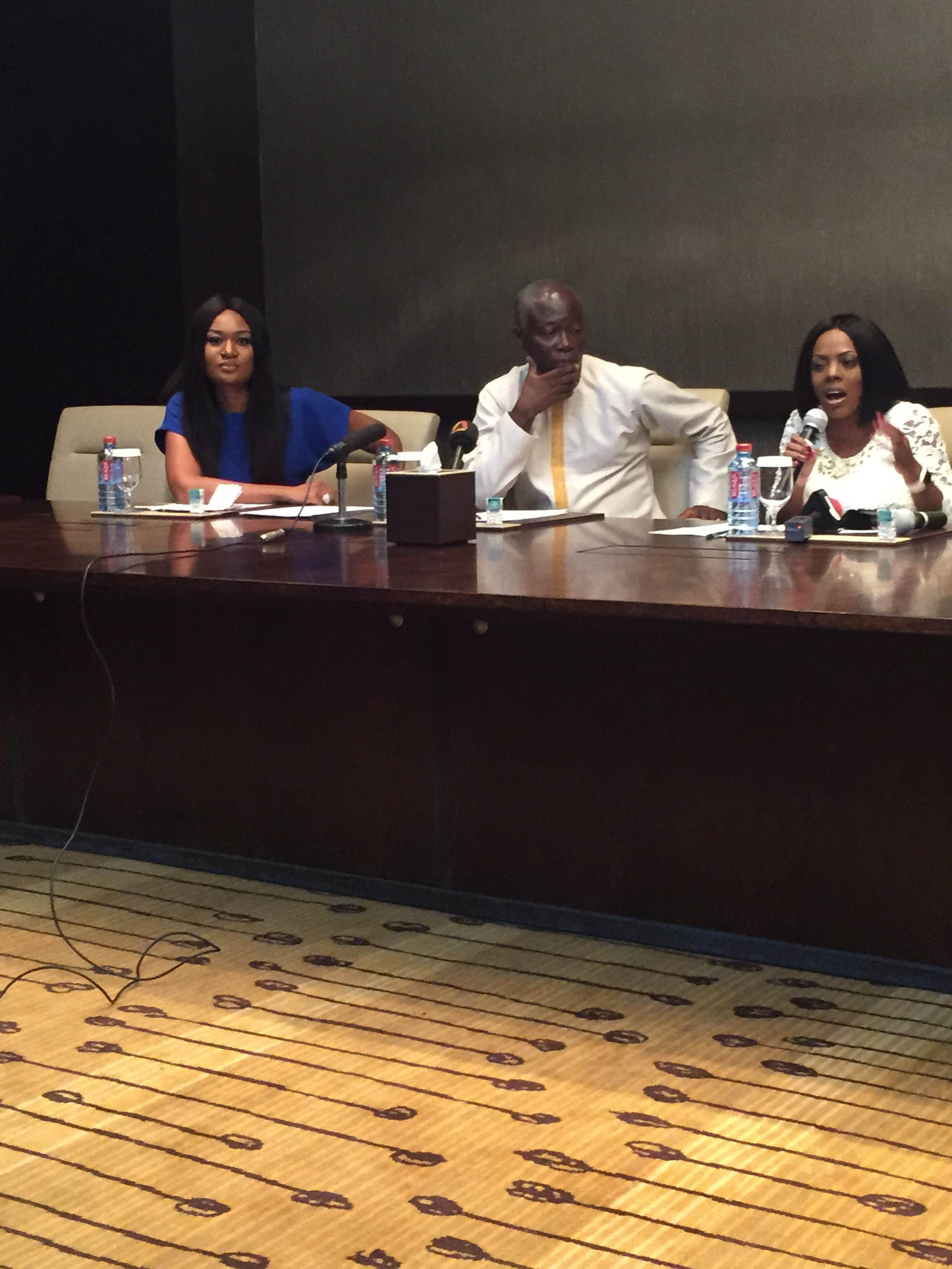 PHOTOS: Minister endorses Nana Aba Anamoah and Sandra Akobea as ambassadors for women football