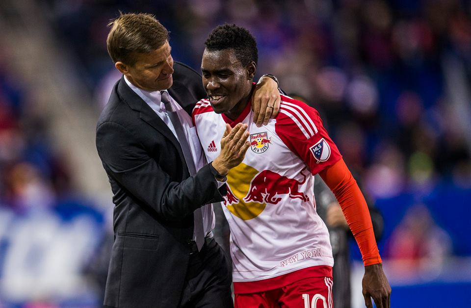 Ghanaian attacker Lloyd Sam on target for New York Red Bulls in MLS