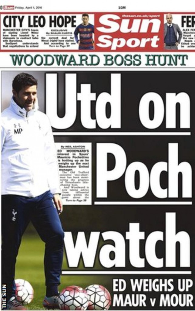 Today's newspaper gossip: Man United watch Pochettino, Mourinho snub Valencia