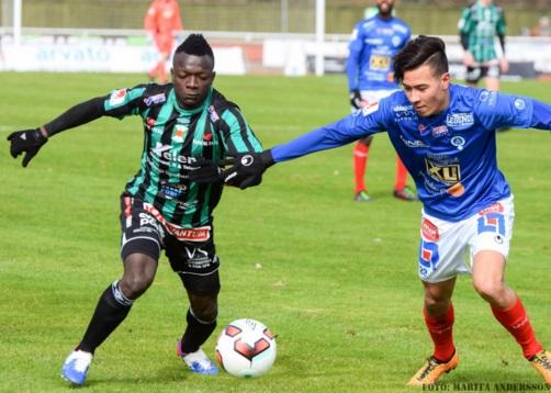 Thomas Boakye scored for Varbergs