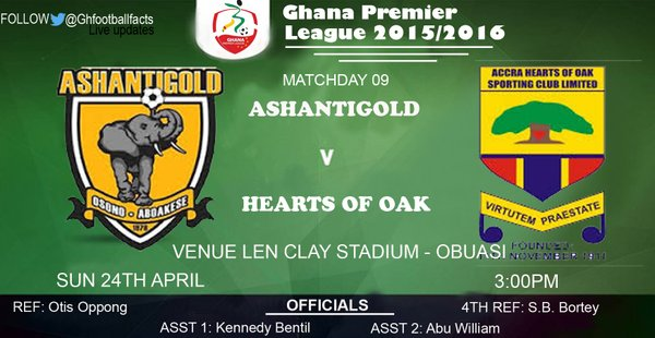 Re-Live the Ghana Premier League LIVE play-by-play: AshGold - Hearts
